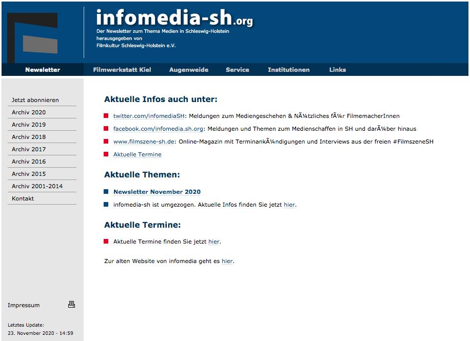 infomedia.sh: Zwei Jahrzehnte für den Film aus Schleswig-Holstein